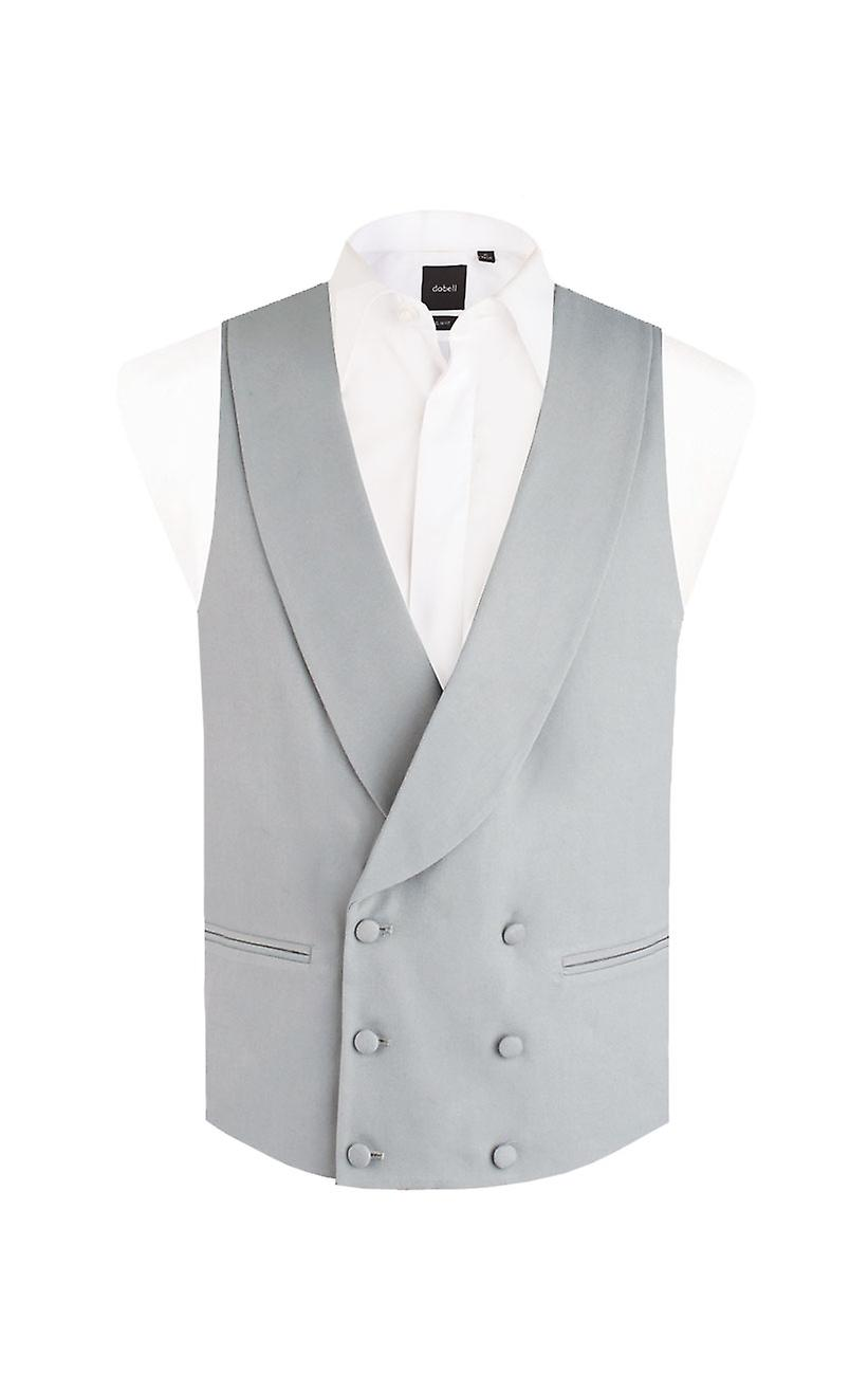 Dobell Boys Dove Grey Morning Wedding Suit Waistcoat Regular Fit Shawl Lapel Double Breasted