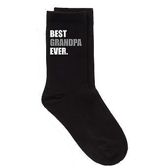 Mens mejor abuelo siempre calcetines de becerro negro V2