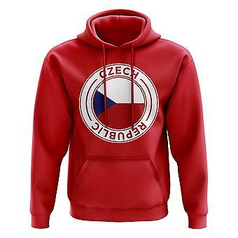 Czech Republic Football Badge Hoodie (Red)