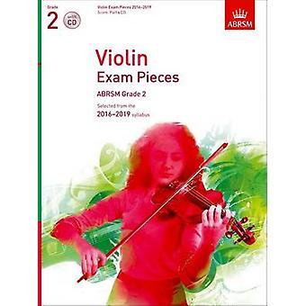 Violin Exam Pieces 2016-2019 - Abrsm Grade 2 - Score - Part & CD - Sel