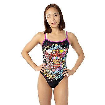 Speedo Hippy Chick Dreams Placement Double Crossback Swimwear For Girls