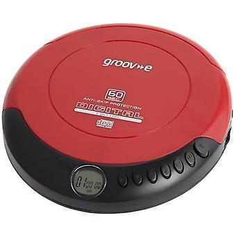 Groov-e Retro-Serie persönlichen CD-Player mit Kopfhörer - rot (GVPS110)