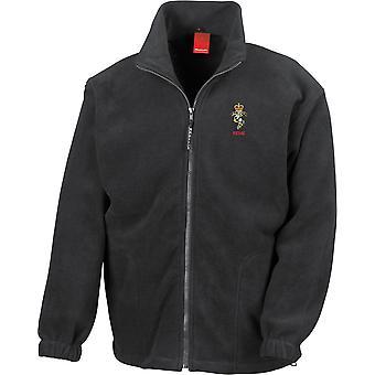REME Royal Electrical Mechanical Engineers Name - Chaqueta de fleece de peso pesado con licencia del ejército británico bordado