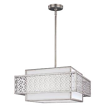 Elstead - 3 Light Pendant - Silver Finish - FE/KENNEY/3P