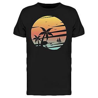 Tropical Island Grafico Tee Uomini's -Immagine di Shutterstock