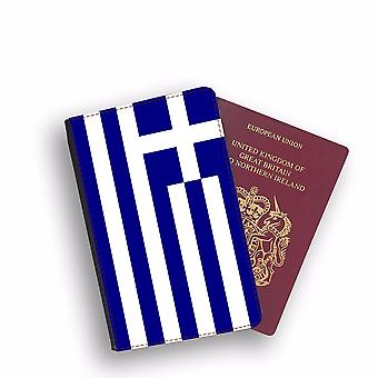GREECE Flag Passport Holder Style Case Cover Protective Wallet Flags design