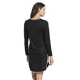Rosch 1193736-10995 Women's Pure Black Cotton Nightdress