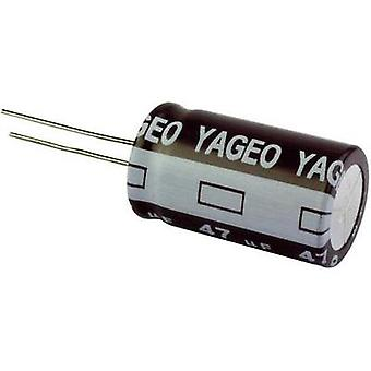 Electrolytic capacitor Radial lead 2.5 mm 10 µF 6