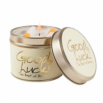 Lily Flame Scented Candle in a presentation Tin - Good Luck