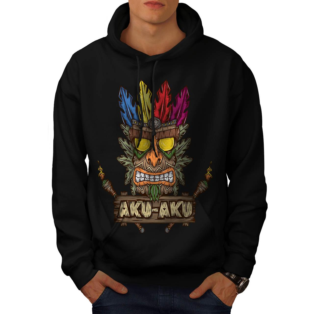 Tradition Face Mask Bandicoot Men Black Hoodie | Wellcoda