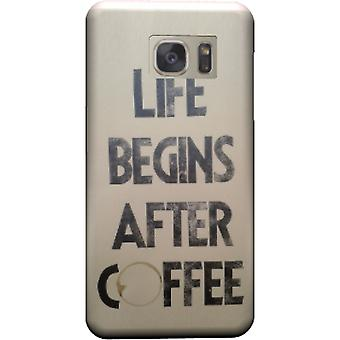 Cover life begins after coffee to Galaxy Note 5