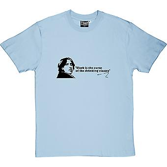 Oscar Wilde Drinking Classes Quote Men's T-Shirt