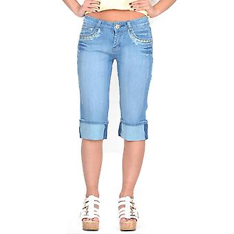 Lange verblasst Jean Denim-Shorts - Distressed