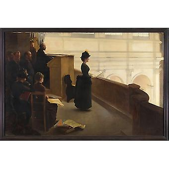 """The Organ Rehearsal Poster Print by Henry Lerolle (French Paris 1848  """"1929 Paris) (18 x 24)"""