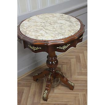 Baroque side - table antique style Mk MkTa0084 marble beige
