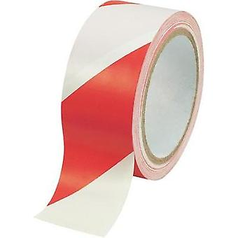 Marking tape Conrad Components WT-WR Red, White (L x W) 18 m x 48 mm Content: 1 Rolls