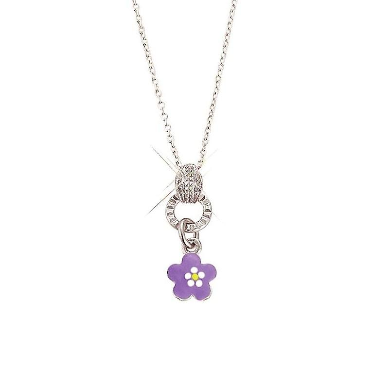 Scout Children necklace chain silver flower purple Girls Girls 261067200