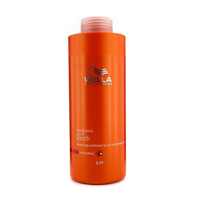 Wella Enrich Moisturizing Conditioner For Dry & Damaged Hair (Fine/Normal) 1000ml/33.8oz