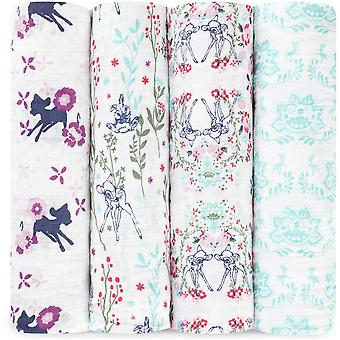 Aden + Anais Disney Baby Classic Swaddles 4 Pack - Bambi