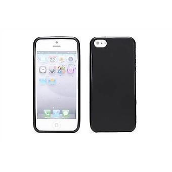 Crystal Gel geval dekking voor Apple iPhone 5 5S SE - zwart