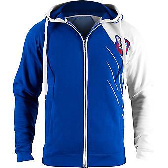 Hayabusa omarbejdning serie Athletic Fit Zip-Up Hættetrøje blå/hvid - boksning mma