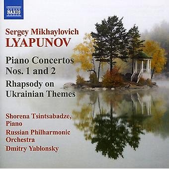 S.M. Lyapunov - Sergey Lyapunov: Piano Concertos Nos. 1 & 2; Rhapsody on Ukrainian Themes [CD] USA import