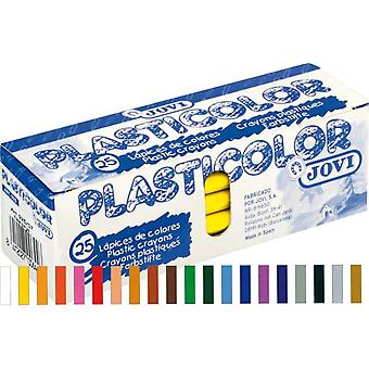 Jovi Caja 25 Plasticolor Blanco (Toys , School Zone , Drawing And Color)
