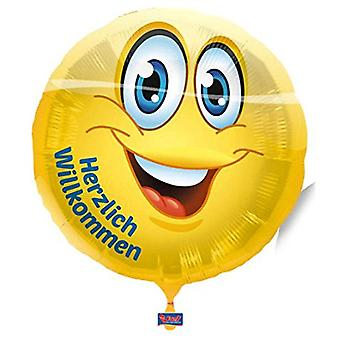 Foil balloon smiley warmly welcome helium balloon 43 cm balloon