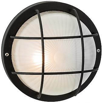 Firstlight Vintage Black Outdoor Open Cage Wall Light