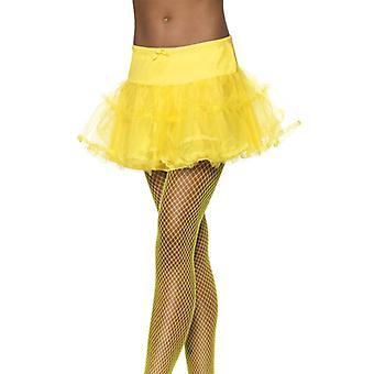 Petticoat skirt slip yellow sexy transparent