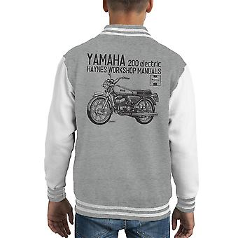 Haynes Owners Workshop Manual Yamaha 200 Electric Kid's Varsity Jacket
