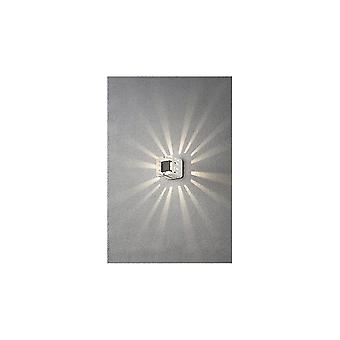 Konstsmide Pescara Modern White Stencil Cube Wall Light