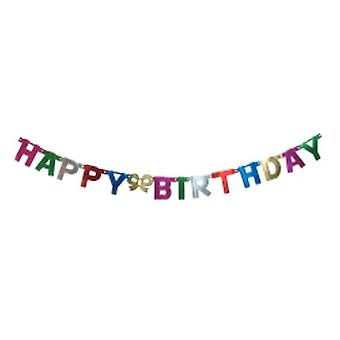 Happy Birthday Banner Foil Letters