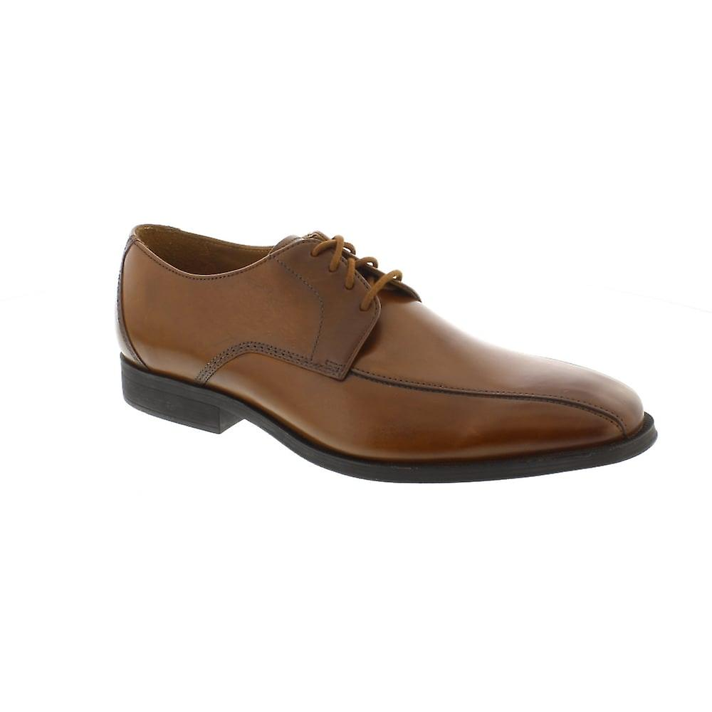 Clarks Gilman Mode - Dark Tan Leather (Brown) Mens Shoes