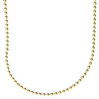 Sterling 925 Silver bling ball chain - BALL 2 mm gold