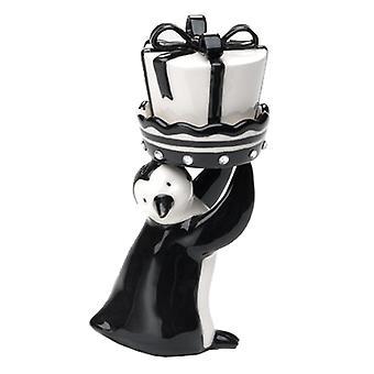 Black White Arctic Penguin Salt and Pepper Shaker