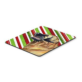 Leonberger Candy Cane Holiday Christmas Mouse Pad, Hot Pad or Trivet