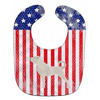 Carolines Schätze BB3377BIB USA patriotischen Anatolian Shepherd Baby Lätzchen