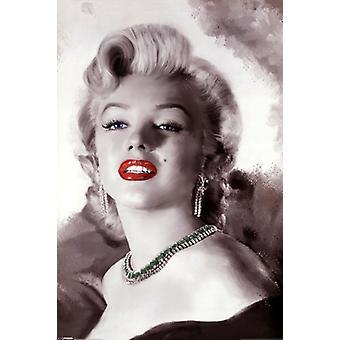 Marilyn Monroe - diamanten zijn een meisjes beste vriend Poster Poster afdrukken