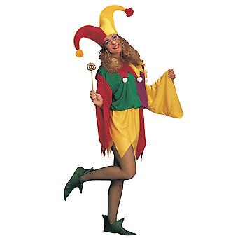 Kings Jester Renaissance Carnival Mardi Gras Joker Clown Mens Women Costume