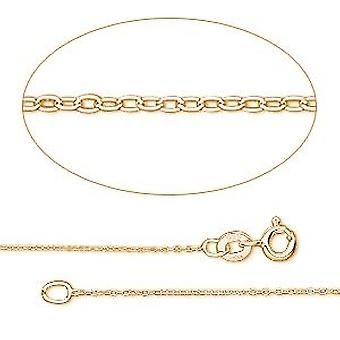 GEMSHINE 14 k 585 gold necklace. 0.9 mm anchor chain in a classic design with lengths from 40 to 76 cm