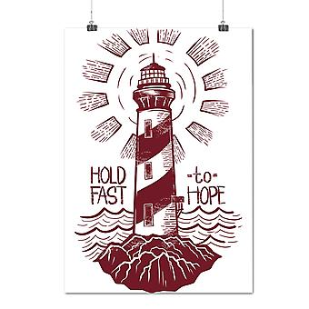 Matte or Glossy Poster with Lighthouse Hope Fashion | Wellcoda | *d1994