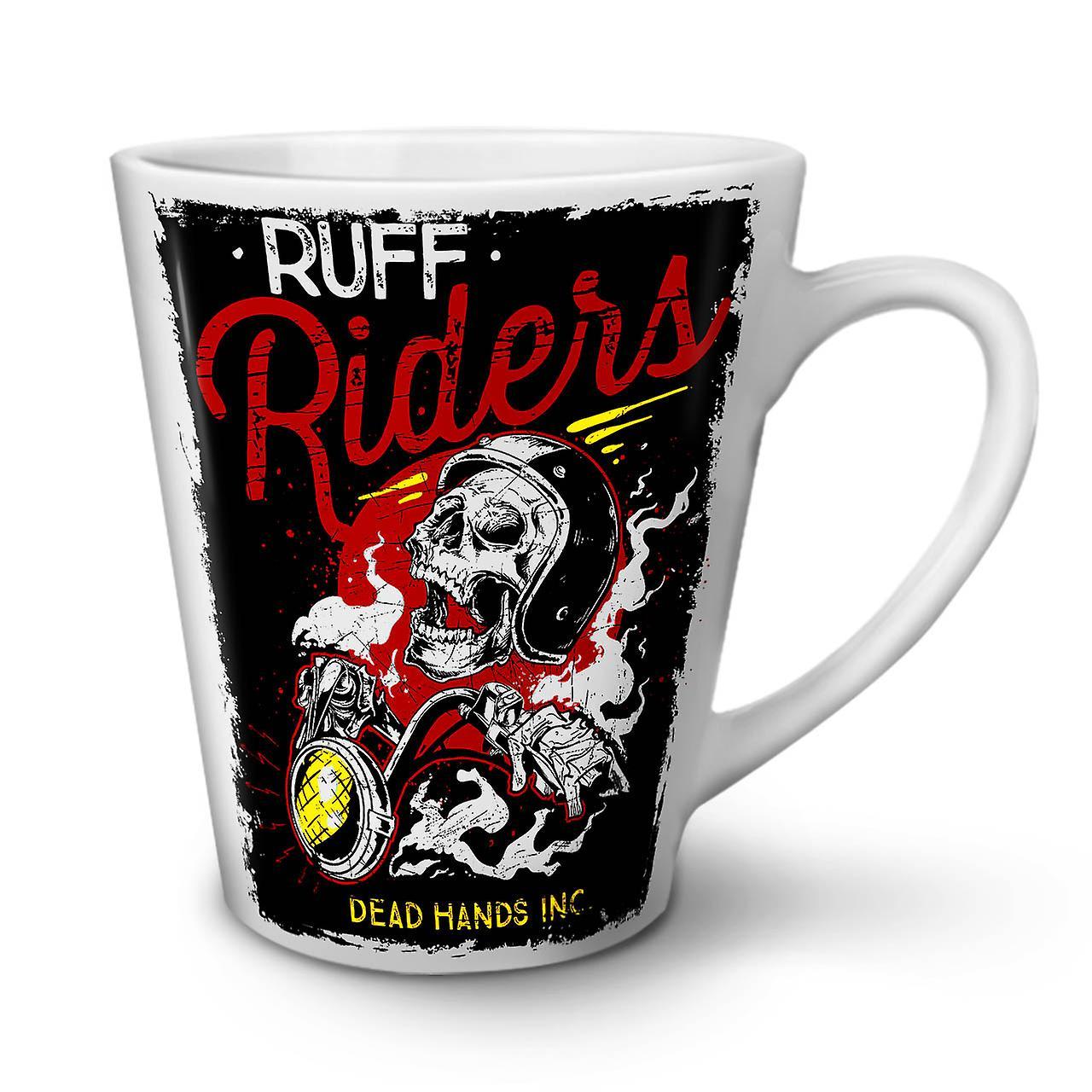 Tasse Café Céramique Skull Riders Nouvelle En OzWellcoda Blanche 12 Ruff Biker Latte lJcTFK1