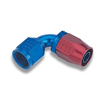 Earl's 309112 Auto-Fit Blue and Red Anodized Aluminum 90-Degree -12AN Hose End