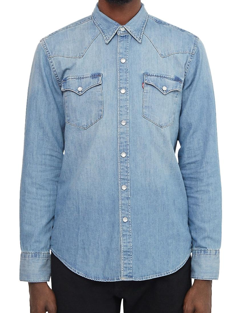 Levi's Barstow Western Shirt Red Cast Stone