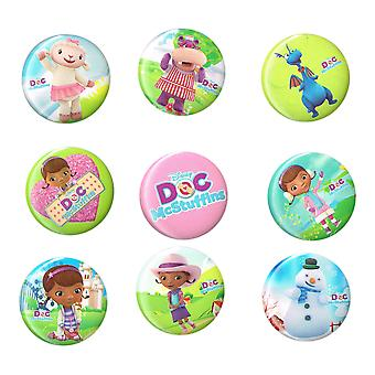 STOCK ITEM | Mid Size Badges | DOC MCSTUFFINS | Ideal Party Bag Badges | SINGLE BADGE