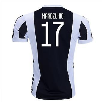 2017-18 Juventus domu koszula (Mandzukic 17) - dla dzieci
