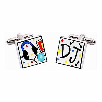 DJ gemelos por Sonia Spencer, en estuche de presentación. Música, cubiertas