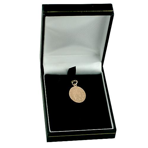 9ct Rose Gold 20x16mm Miraculous Medallion Medal Pendant