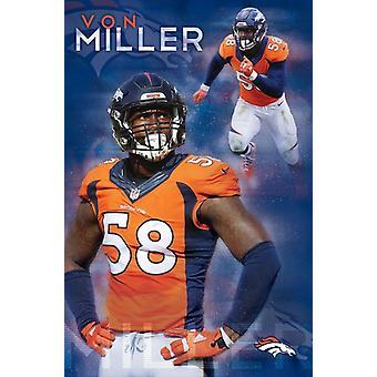 Denver Broncos - Von Miller 16 Poster Print